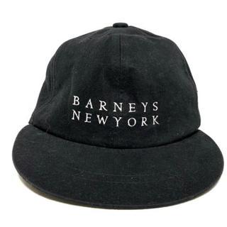 バーニーズニューヨーク(BARNEYS NEW YORK)のバーニーズ キャップ - 黒×白 コットン(キャップ)