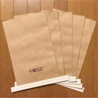 ウィゴー(WEGO)のWEGO ギフトバッグ ショッパー S5枚(ショップ袋)