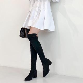 ZARA - 【予約商品】スエード ニーハイブーツ ロング ブーツ 韓国ファッション 秋服