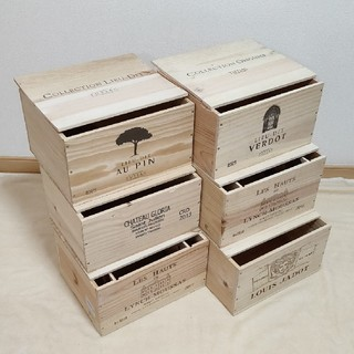 ワイン木箱 木箱いっぱい福袋 No554(小物入れ)
