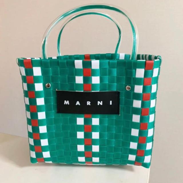 Marni(マルニ)のピクニックバック グリーン レディースのバッグ(かごバッグ/ストローバッグ)の商品写真