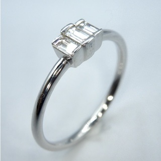 K18WG ホワイトゴールド 0.19ct ダイヤモンド リング(リング(指輪))