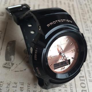 ジーショック(G-SHOCK)のG-SHOCK mini  ブラック×ローズゴールド(腕時計)