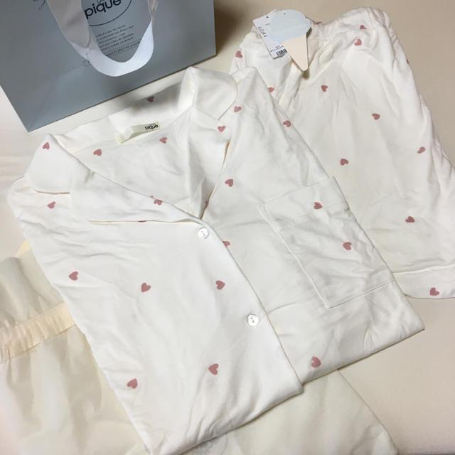 gelato pique(ジェラートピケ)の【値下げ】gelato pique / ハートシャツセット レディースのルームウェア/パジャマ(ルームウェア)の商品写真