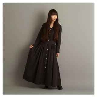 ヤエカ(YAECA)のfou fou THE DRESS #4 ワンピース 黒(ロングワンピース/マキシワンピース)