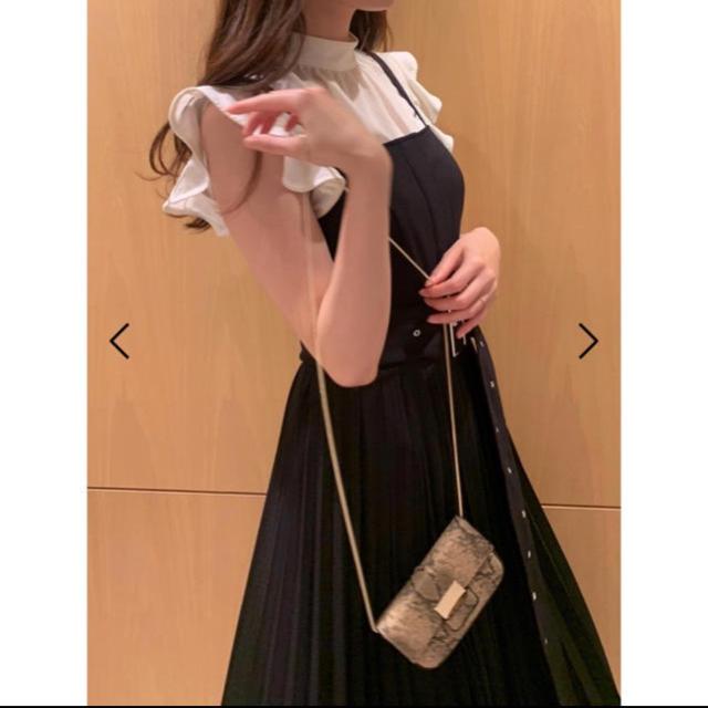 snidel(スナイデル)のノースリフリルブラウス ホワイト 新品未使用 スナイデル レディースのトップス(シャツ/ブラウス(半袖/袖なし))の商品写真