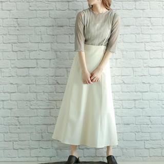 ミスティウーマン(mysty woman)の¥5390→¥3000バックレースアップサス付きスカート(ロングスカート)