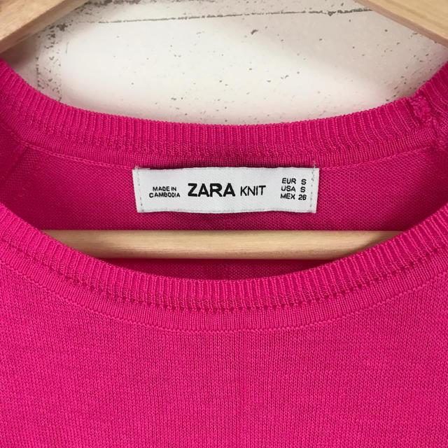 ZARA(ザラ)のZARA 薄手ニット ピンク レディースのトップス(ニット/セーター)の商品写真