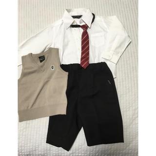 コムサイズム(COMME CA ISM)のフォーマル 4点セット ズボン シャツ ベスト ネクタイ 七五三 入園式 卒園式(ドレス/フォーマル)