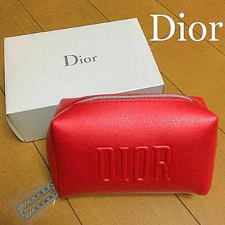 クリスチャンディオール(Christian Dior)の【潰さずに発送】Dior ディオール ノベルティ ポーチ レッド 赤 新品(ポーチ)