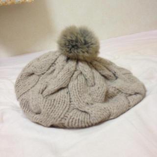 アースミュージックアンドエコロジー(earth music & ecology)のearth ニットベレー帽(ハンチング/ベレー帽)