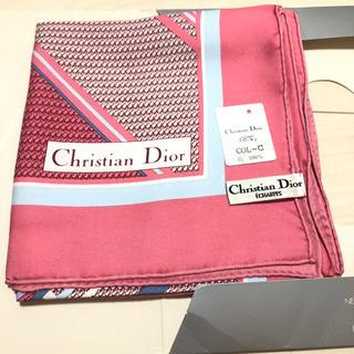 クリスチャンディオール(Christian Dior)のクリスチャンディオール 大判スカーフ(バンダナ/スカーフ)