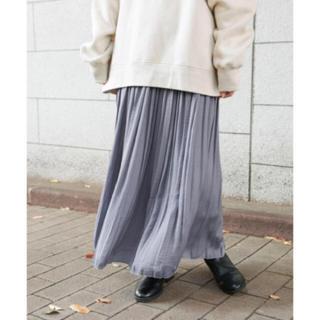 LOWRYS FARM - サテンプリーツスカート