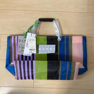 Marni - 【新品】マルニ Marni フラワーカフェ マルチグリーン ストライプバッグ