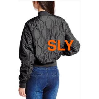 SLY - SLY MA-1 ブルゾン ブラック キルティング 雑誌掲載商品