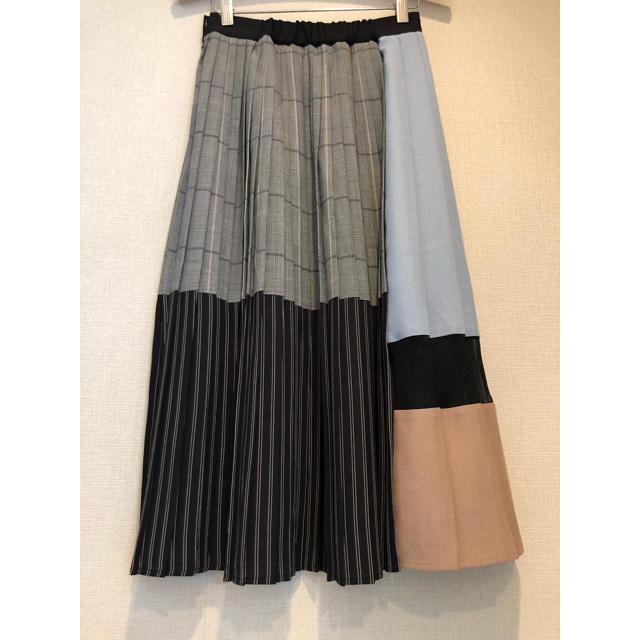 STUDIOUS(ステュディオス)のUNITED TOKYO ブロックプリーツスカート レディースのスカート(ロングスカート)の商品写真