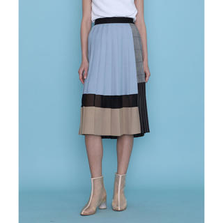 STUDIOUS - UNITED TOKYO ブロックプリーツスカート