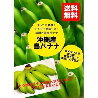 「人気の国産バナナ!!沖縄ブランド 島バナナ ぎっしり1kg」(フルーツ)