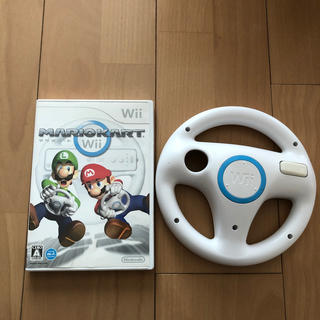 Wii - Wiiマリオカートソフトandハンドル匿名発送