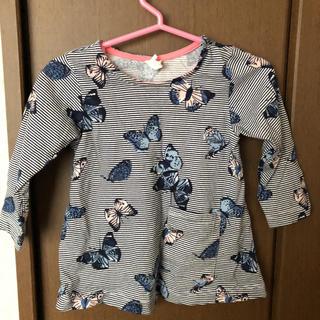 エイチアンドエム(H&M)のH&M 蝶々柄Tシャツ(Tシャツ)
