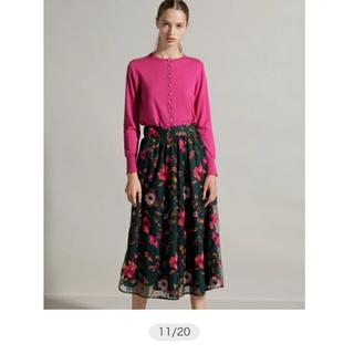 グレースコンチネンタル(GRACE CONTINENTAL)のグレース♡チュール刺繍スカート♡美品です(ロングスカート)