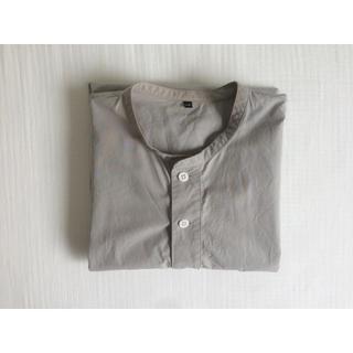 ムジルシリョウヒン(MUJI (無印良品))の無印良品 半袖 シャツ L-XL グレー(Tシャツ/カットソー(半袖/袖なし))