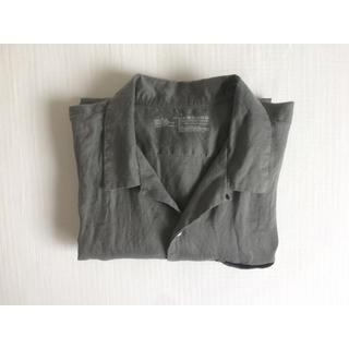 ムジルシリョウヒン(MUJI (無印良品))の無印良品 リネン 半袖シャツ L グレー(Tシャツ/カットソー(半袖/袖なし))
