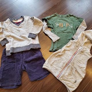 シップス(SHIPS)のSHIPS 100cm洋服4点セット!(Tシャツ/カットソー)