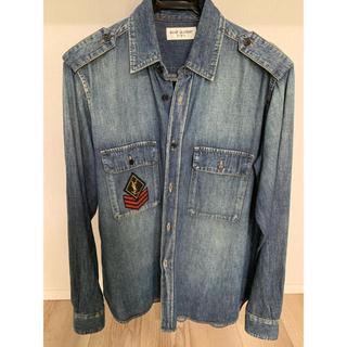 サンローラン(Saint Laurent)の2016年秋冬 サンローラン ロゴデニムシャツ 美品 サイズS(シャツ)