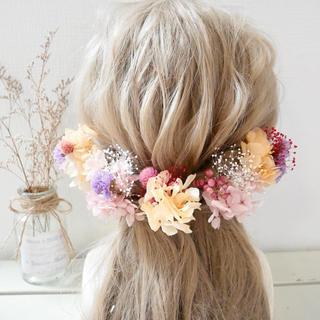 結婚式 髪飾り 成人式 ヘッドドレス 七五三 ドライフラワー ドレス 花