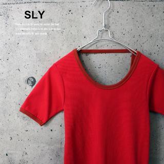スライ(SLY)のラスト1点!SLY 新品BACKOPENHALFSLEEVE T/SH S(Tシャツ(半袖/袖なし))