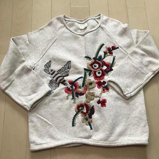 ザラキッズ(ZARA KIDS)の*めーさま* zara 裏起毛スウェット 120cm(Tシャツ/カットソー)