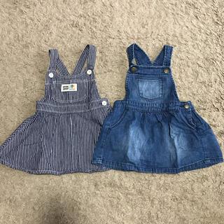 ベビーギャップ(babyGAP)のジャンパースカート2枚セット(スカート)