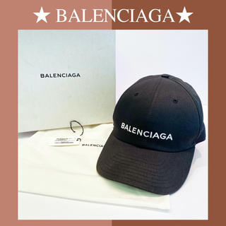 バレンシアガ(Balenciaga)の【良品】バレンシアガ キャップ 旧ロゴ ブラック 黒 L BALENCIAGA(キャップ)