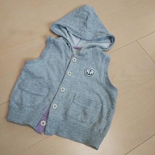 ベルメゾン(ベルメゾン)のベルメゾン 90 薄手ベスト 袖なしパーカー グレー(ジャケット/上着)