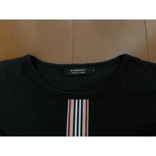 バーバリーブラックレーベル(BURBERRY BLACK LABEL)のバーバリーブラックレーベル 半袖Tシャツ ブラック サイズ3(Tシャツ/カットソー(半袖/袖なし))