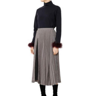 ルシェルブルー(LE CIEL BLEU)の極美品ルシェルブループリーツスカート34(ロングスカート)