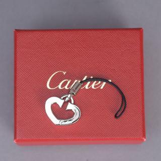 カルティエ(Cartier)の未使用 CARTIERカルティエ ハート 携帯ストラップ シルバーキーホルダー(キーホルダー)