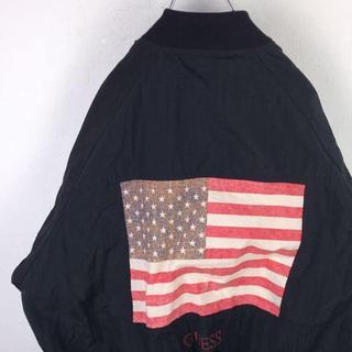 ゲス(GUESS)のGUESS ゲス ナイロンジャケット 星条旗 ブルゾン 90s レアカラー(ナイロンジャケット)