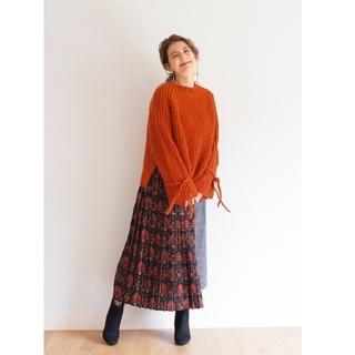 ハコ(haco!)の【ラブ&ピースプロジェクト】チェックと花柄のスカート(ロングスカート)