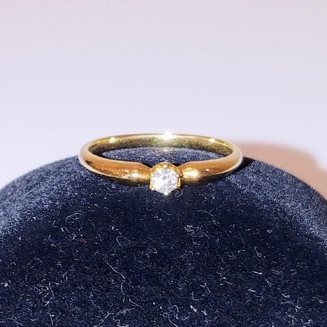 4℃(ヨンドシー)の4℃ ダイヤリング18K レディースのアクセサリー(リング(指輪))の商品写真