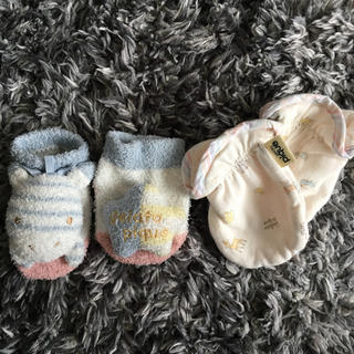ジェラートピケ(gelato pique)のジェラートピケベビー 靴下 ミトン セット(手袋)