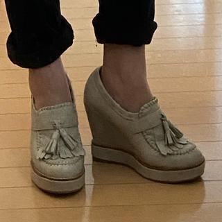 エスペランサ(ESPERANZA)のエスペランサ ウエッジヒール ローファー(ローファー/革靴)