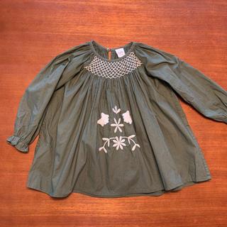 キャラメルベビー&チャイルド(Caramel baby&child )のApolina SISSY DRESS   OLIVE   S(ワンピース)