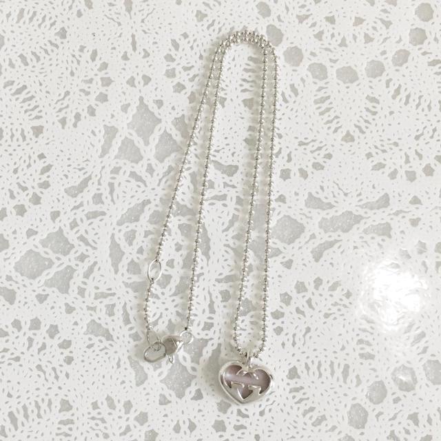 Gucci(グッチ)の正規品 グッチ ネックレス ハート ピンク シェル シルバー ボール チェーン レディースのアクセサリー(ネックレス)の商品写真