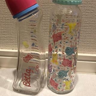 フェフェ(fafa)のガラス製 Betta fafa 哺乳瓶 取り替え用2つ付き(哺乳ビン)