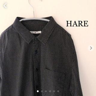 ハレ(HARE)のHARE 長袖シャツ ドット柄 ブラック Mサイズ 日本製 ハレ(シャツ)
