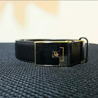 ディオール(Dior)の美品 Dior ディオール レザー ベスト ブラック ゴールド 黒 金(ベルト)