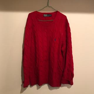 ラルフローレン(Ralph Lauren)のラルフローレン 赤 ニット セーター ポロ (ニット/セーター)