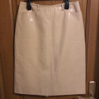 ニジュウサンク(23区)の豚革 エスピエ/ESPIE レザースカート サイズ40(ひざ丈スカート)